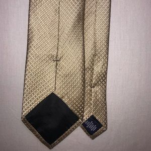 Mens Tie Stafford Silk 60 in Gold Grenadine